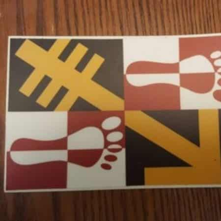 Maryland Hashing Flag Sticker 22
