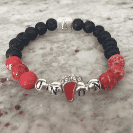 On On Red Sea Sediment Gemstone Lava Rock Bracelet with Essential Oil 5