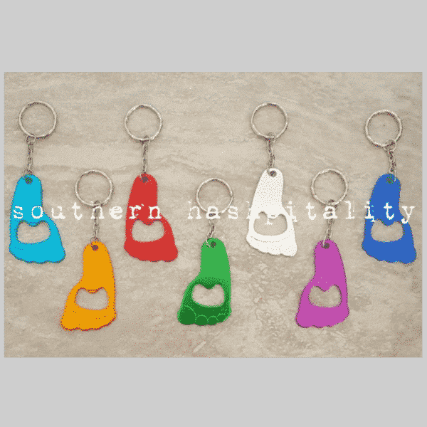 Metal Foot Bottle Opener and Keychain 1