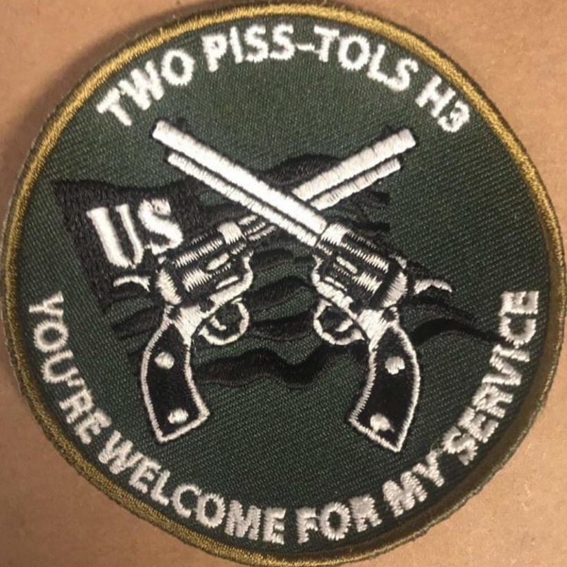 Two Piss-tols H3 Charity Patch 1